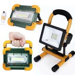30W LED Work Light Rechargeable Emergency Flood Lamp With St