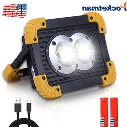 50000LM 100w Rechargeable LED Work Lights Flood Light with U