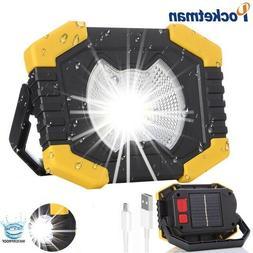 80000LM Solar Energy LED Work Light USB Rechargeable Flashli