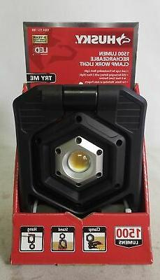 Husky 1500-Lumen Rechargeable Clamp LED Work Light