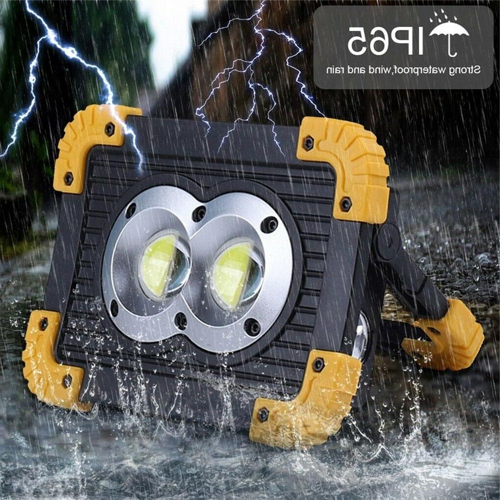 50000LM 100w Rechargeable Work with USB Built-in