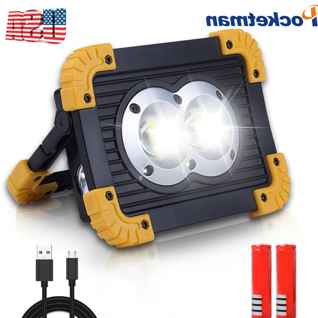 50000lm 100w rechargeable led work lights flood