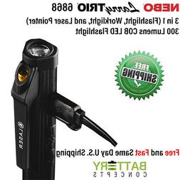 NEBO Larry TRIO 3 in 1 300 Lumens Rechargeable Flashlight Wo