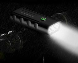 LED Flashlight Bicycle Lights Built in 5200mAh USB Rechargea