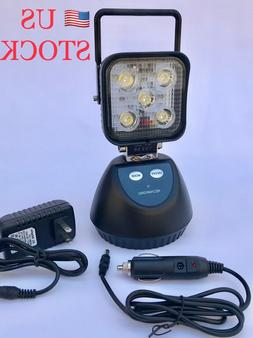 LED Rechargeable Work Light Handheld Flashlight Magnetic Bas