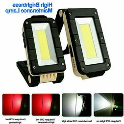 LED COB Inspection Lamp Work Light Flexible Battery Power Ha