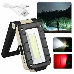 Portable Rechargeable Magnetic COB LED Work Light Lamp Foldi