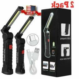 Rechargeable COB LED Slim Work Light Lamp Flashlight Inspect