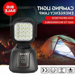 Rechargeable LED Work Light Bright Handheld Flashlight Magne